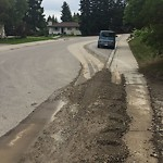 On-Street Cycling Lane - Cleaning at 7107 Hunterdale Rd NW