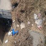 Garbage in a park at 1001 Barlow Trail SE Radisson Heights - Albert Park