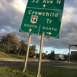 Sign on Street/Lane/Sidewalk-Repair/Replace at 3501 CHARLESWOOD DR NW