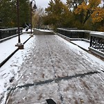 Snow on Park Pathway at 1994 1 ST SW