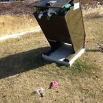 Garbage in a park at 497 KINCORA DR NW