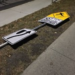 Sign on Street/Lane/Sidewalk-Repair/Replace at 12458 ELBOW DR SW