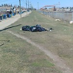 Garbage in a park at 6127 PENEDO WY SE