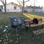 Garbage in a park at 4423 MARWOOD WY NE