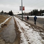 Snow on Pathway or City-maintained Sidewalk at 6701 LEGARE DR SW