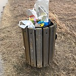Garbage in a park at 14 SHERWOOD GD NW