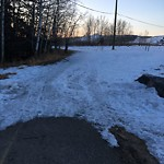 Snow on Pathway or City-maintained Sidewalk at 130 VALLEY GLEN HT NW