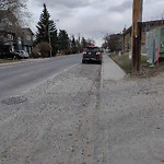 On-Street Cycling Lane - Cleaning at 2107 34 AV SW