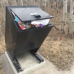 Garbage in a park at 1008 PROMINENCE HL SW
