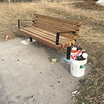 Garbage in a park at 53 PROMINENCE PA SW