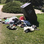 Garbage in a Park at 2117 Memorial Dr NW
