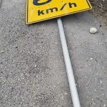 Sign on Street, Lane, Sidewalk - Repair or Replace at 4596 Crowchild Tr NW