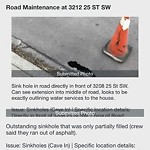On-Street Cycling Lane - Repair at 3212 25 ST SW