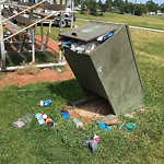 Garbage in a Park at 1198 47 St SE