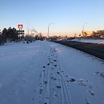 Snow on Pathway or City-maintained Sidewalk at 108 Blackfoot Tr SE