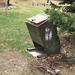 Garbage in a Park at 206 24 Av SW