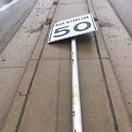 Sign on Street, Lane, Sidewalk - Repair or Replace at 420 Dalmeny Hl NW