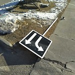 Sign on Street, Lane, Sidewalk - Repair or Replace at 10097 Hidden Valley Dr NW