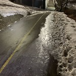 Snow on Pathway or City-maintained Sidewalk at 467 5 Av SE
